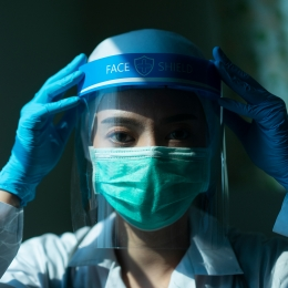 Woman in PPE