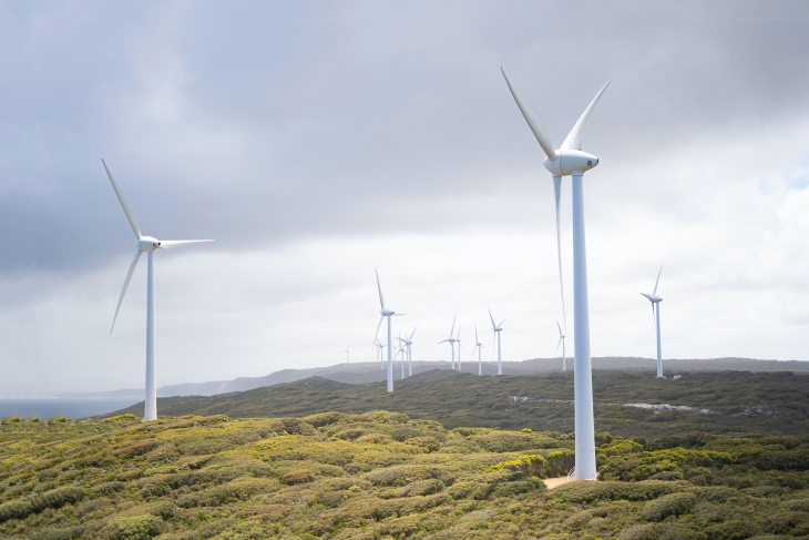 Windmills - Climate Resilience Background
